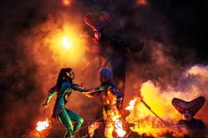 Эльфийская ночь файершоу о мистических существах